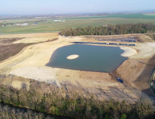 Fin des aménagements du lac crée